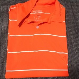 Other - Orange and white collared shirt